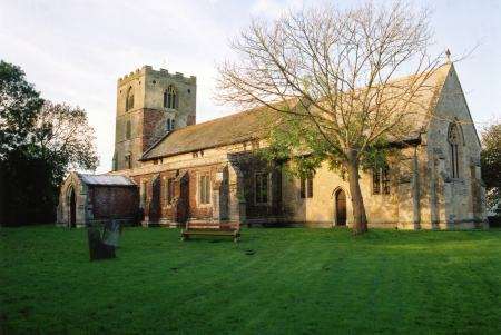St. Mary's Church, built in 1393 in Hogsthorpe.