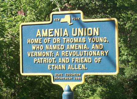 Thomas Young Marker at Amenia.  Photo by Sandra Winegar.