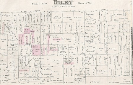 1873 map of Riley Township