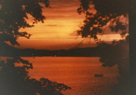 A cottage sunset.  Photo by Donald S. Winegar.