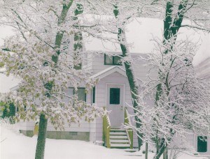 The cottage in winter.  Photo by Sharon Pierce, a neighbor.