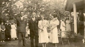 Donald Stephenson Winegar marries Mary Deone Daniells in 1937 at the Pivot.