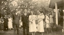 Donald Winegar and Mary Daniells wedding, 1938.