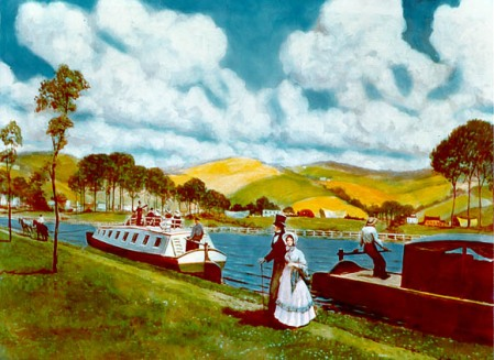 The Erie Canal in the 1800s