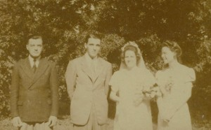 "Iva Georgene ""Jean"" Daniells marries Don Lowell in 1942 at the Pivot."