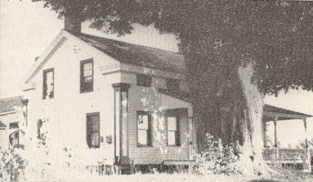 Home of Nathaniel Daniels, Jr., in Saratoga County, New York.  Photo from The Daniels-Daniells Family, Vol. 2.
