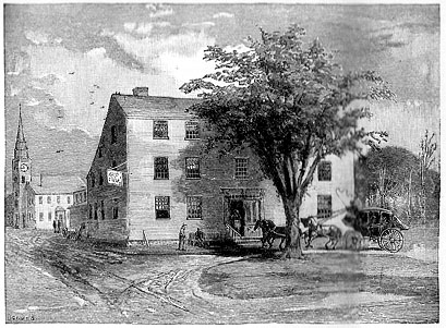 Parsons Tavern in Springfield, Massachusetts, 1776