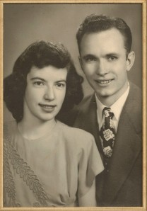 Paul Ray Winegar marries Mary Margaret Biergans in 1947.