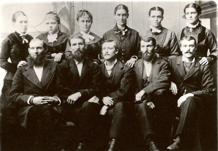 The Plowman brothers and sisters, ca 1880.