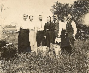 Seven of the original eleven Plowman brothers and sisters