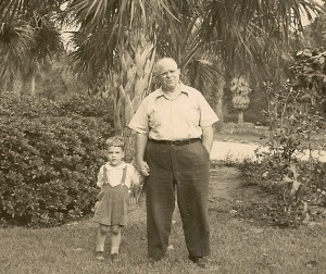 Allan Daniells and his grandson David, 1945.