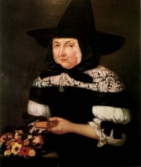This painting is widely believed to be that of Mary Bliss Parsons, but that is not certain.