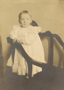 Esther Winegar, about one year old.