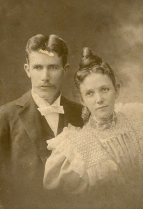 Henry Beecher and Molly Winegar on their wedding day.