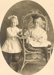 Nina Winegar, age 4, and sister Esther, age 8.