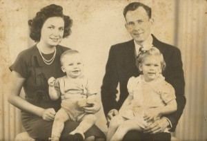 Ruth and Bill Winegar with first two children.