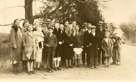 Thanksgiving 1937 at the Winegar's.