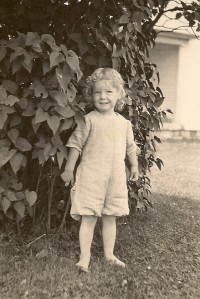 Betty Daniells at 3 years old.