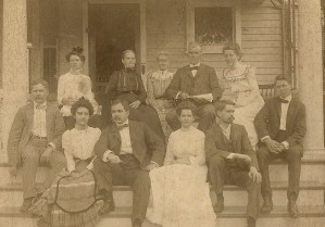 The Carey Reed Daniells Family, ca 1900.