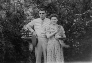Don Lowell and Jean with kitty.